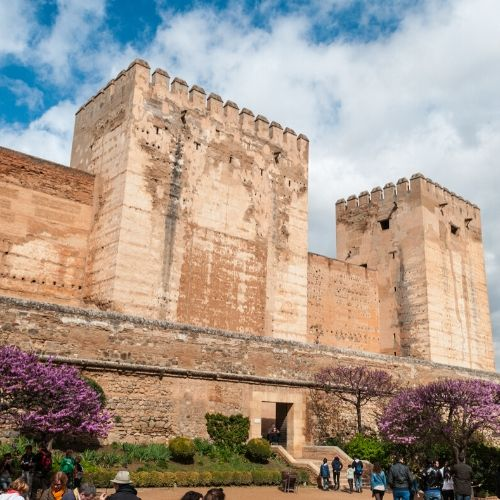 Accessible Alhambra alcazaba outside
