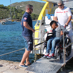 Accessible land and sea excursion