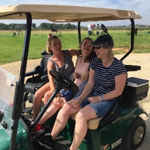 Accessible golf cart