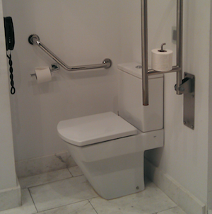 Accessible toilet in hotel room Barcelona