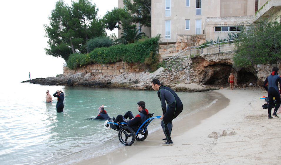 Adapted scuba diving Mallorca