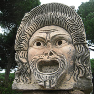 Ancient Ostia Head Statue