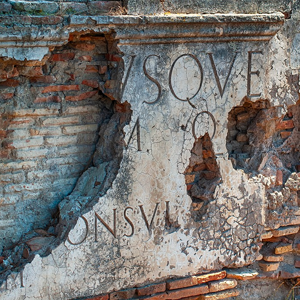 Ancient Ostia Ruins Sign