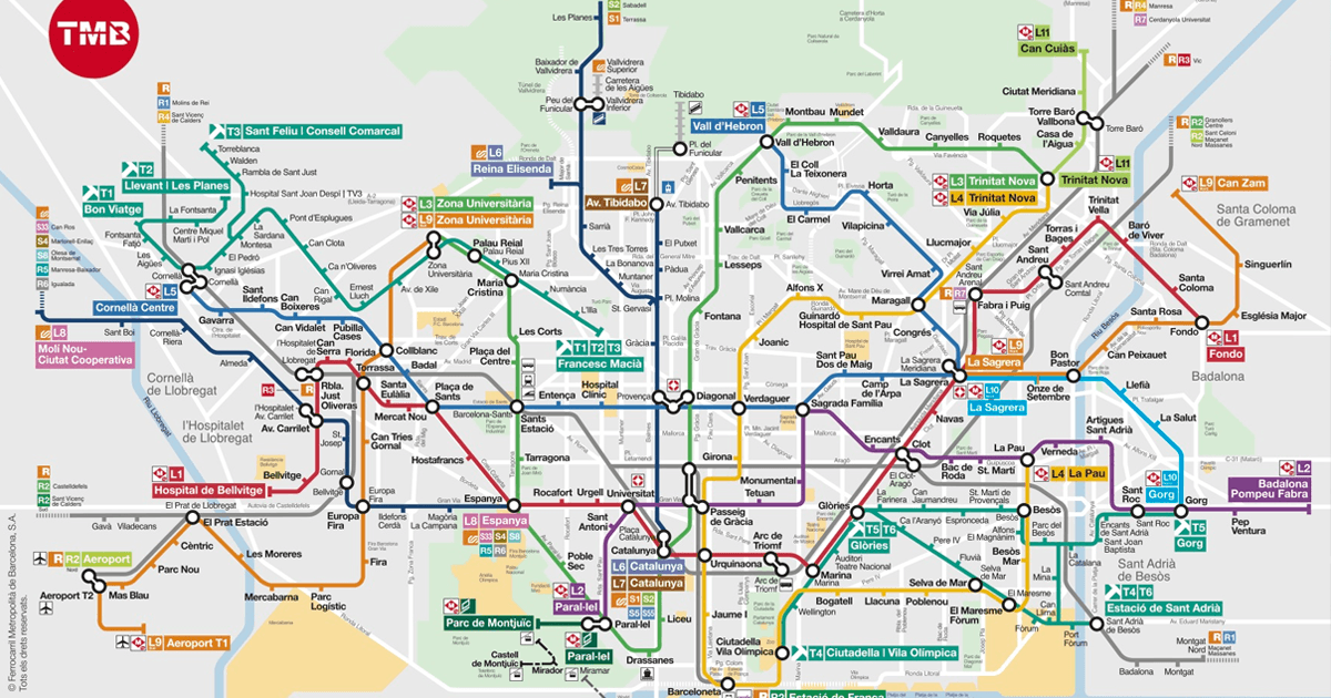 BCN Metro Map