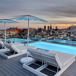 Barcelona City Center Design Hotel Rooftop Terrace