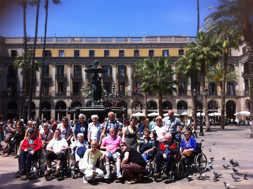 Barcelona Enabled Group Tour through the city