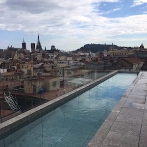 Barcelona city center rooftop pool