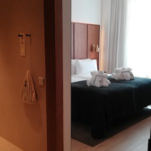 Bedroom in 4 star hotel in city center Barcelona
