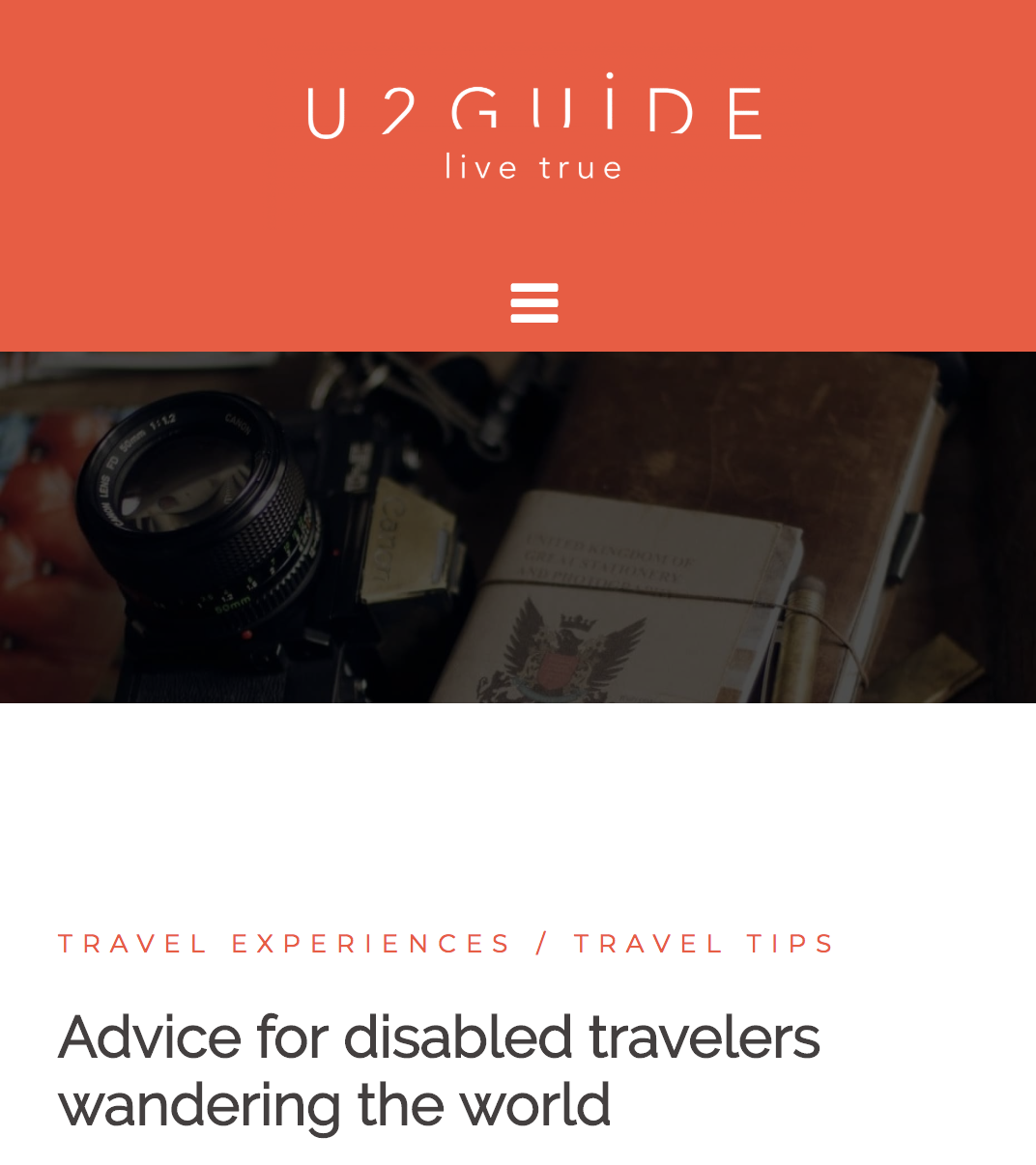 Blog Post U2Guide Advice for disabled travelers wandering the world