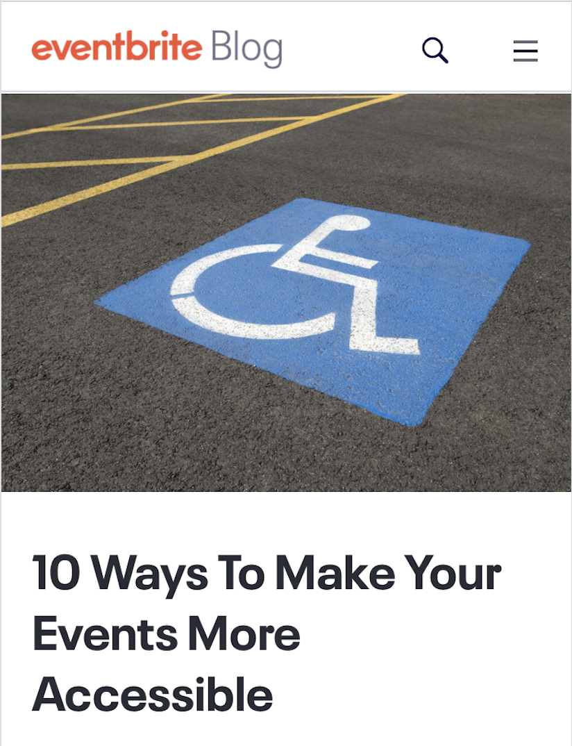 Blog post Eventbrite 10 Ways To Make Your Events More Accessible