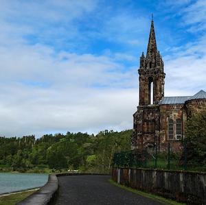 Church next to Lake Furnas São Miguel Azores