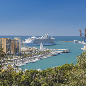 Cruise Port Malaga City View