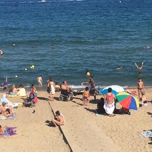 Barceloneta Beach Ramp Sunny