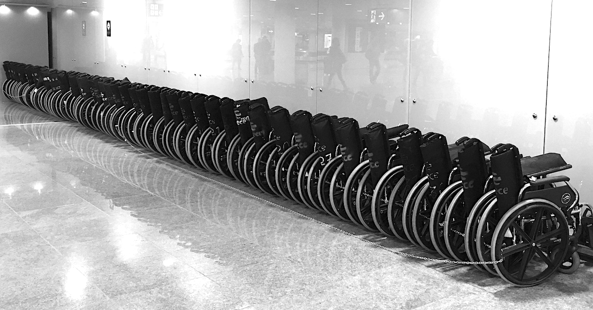 Foldable wheelchairs at Barcelona El Prat Airport - Mobility Equipment Rental Service