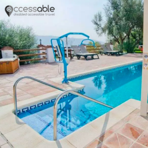 accessible pool with hoist apartment malaga