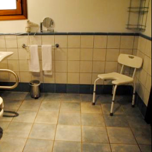 seat in bathroom