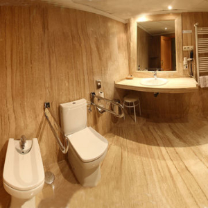 panorama part of accessible bathroom