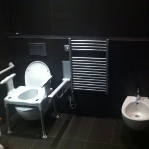 2 accessible toilets