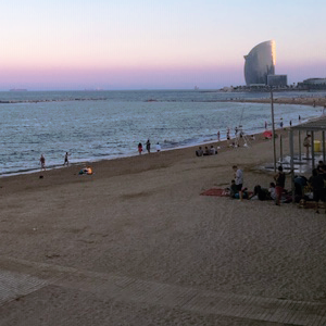 Barceloneta Beach Sunset