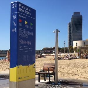 Nova Icaria Beach Sign