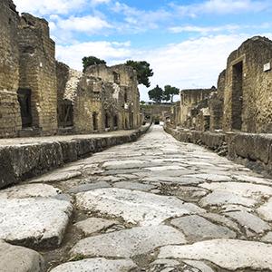 Herculaneum stone street
