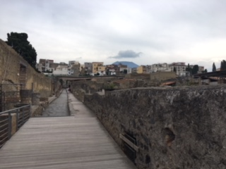 Another ramp towards excavations Herculaneum
