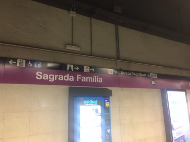 Metro stop Sagrada Familia