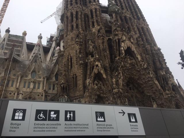 Wheelchair Entrance Sagrada Familia direction