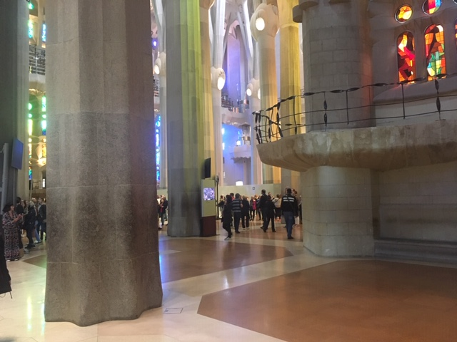 Smooth floor Sagrada Familia