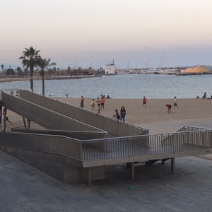 Barceloneta Beach Ramp Sunset