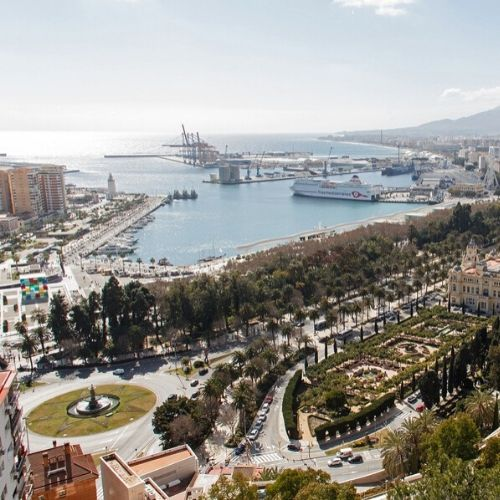 Malaga coast