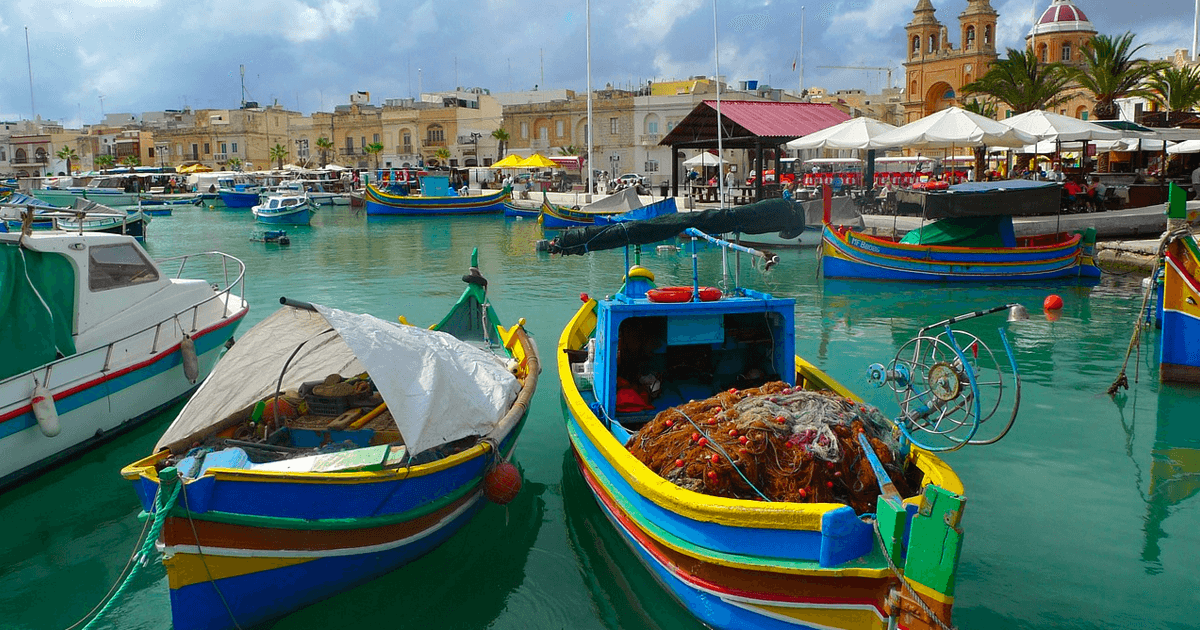 Malta fishing boats