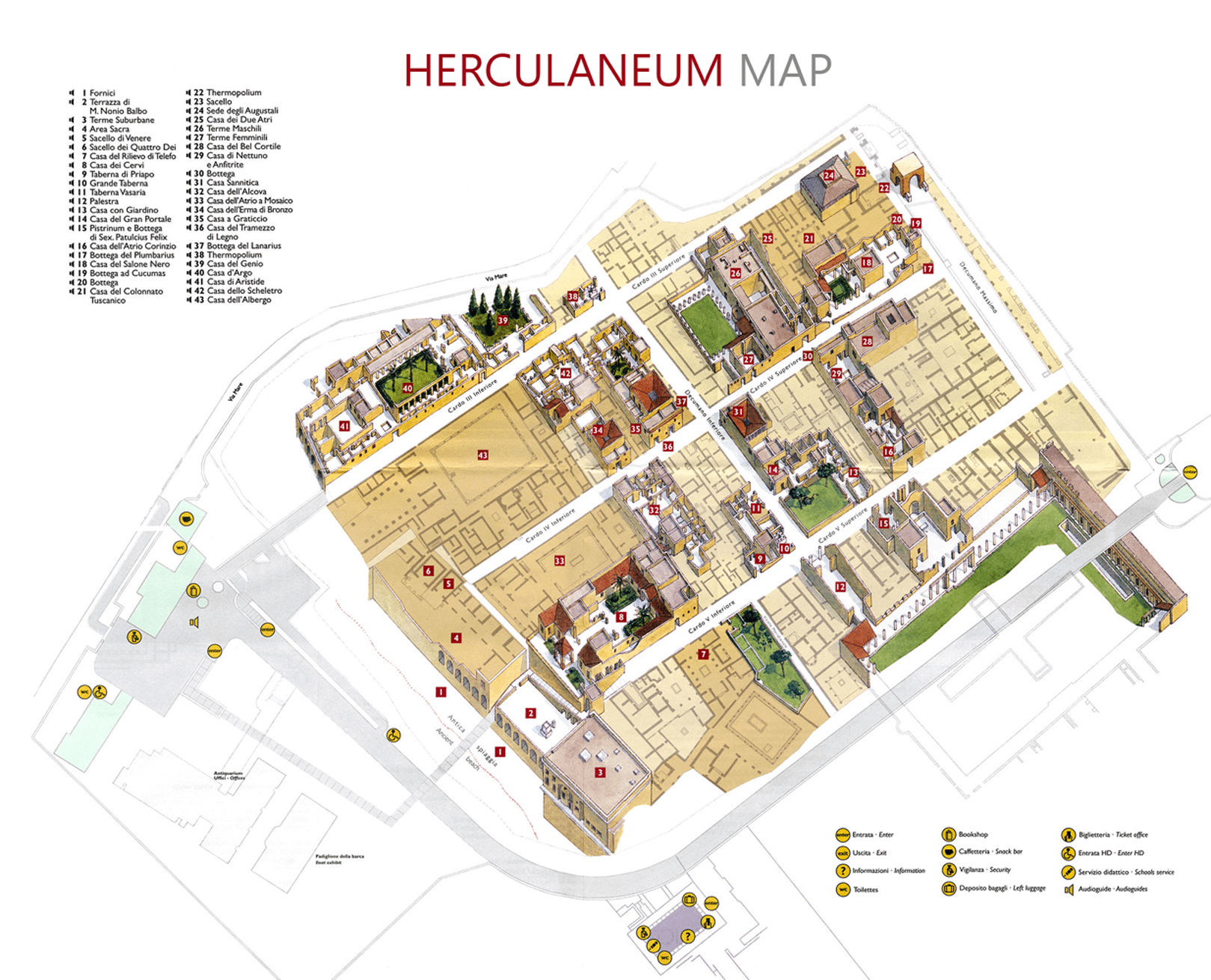 Map Herculaneum