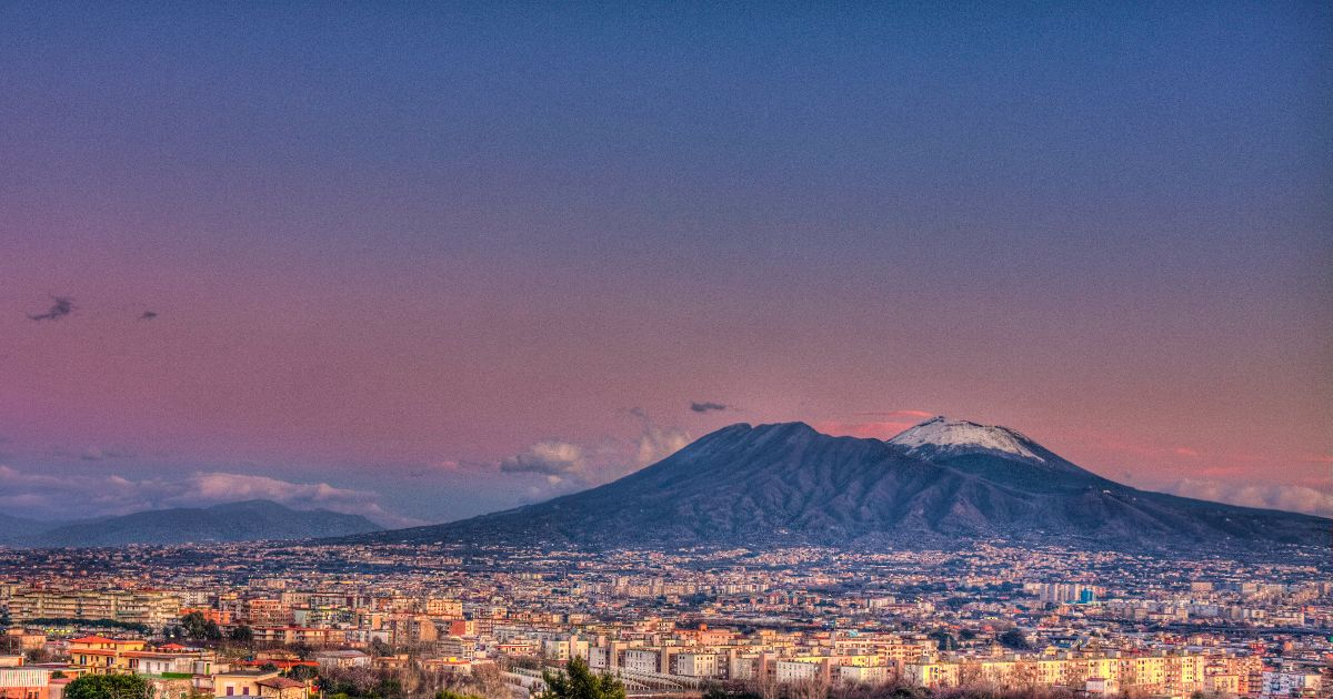 Naples with view on Vesuvius