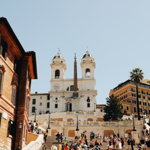 Spanish Steps and church