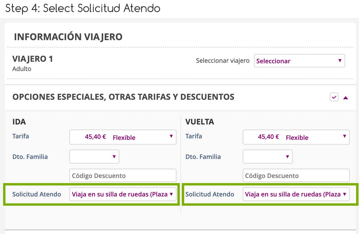 Step 4 buying your own Renfe Tickets