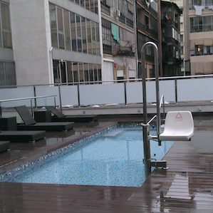 Rooftop Hotel Pool Hoist
