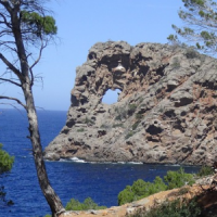Sa Foradada rock formation in water