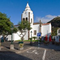 Santa Cruz Madeira white church