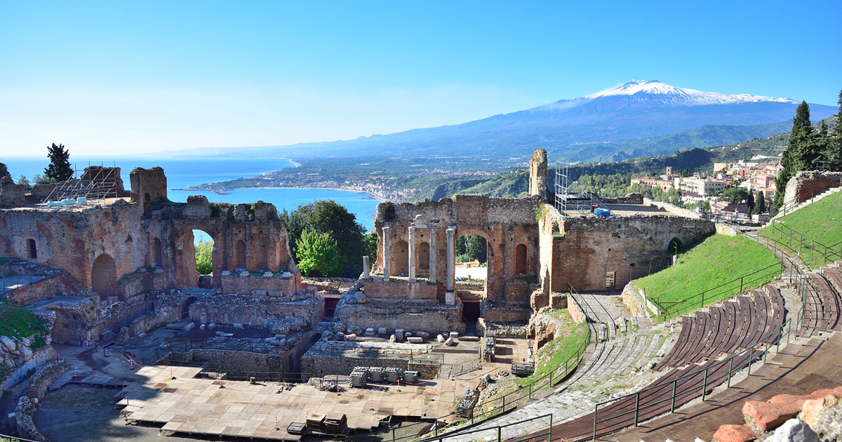 Sicily Roman Theater and Etna
