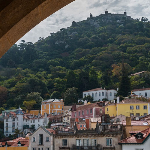 Sintra view with castle