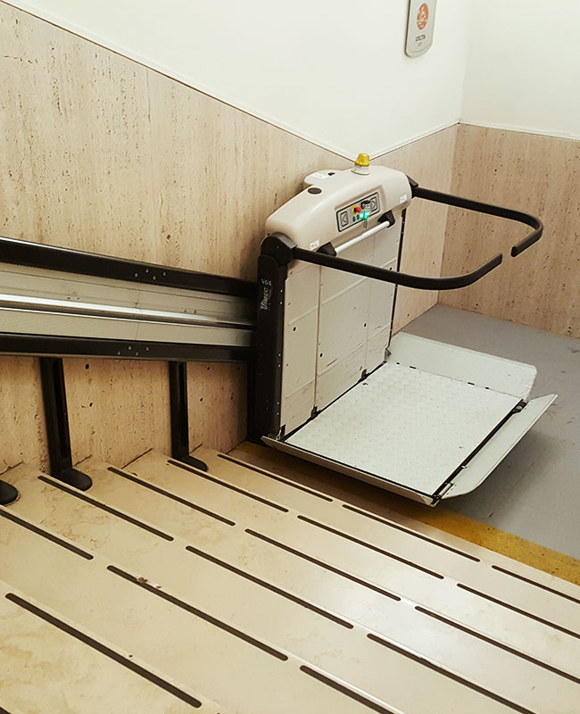 Sistine Chapel Wheelchair Lift Without person
