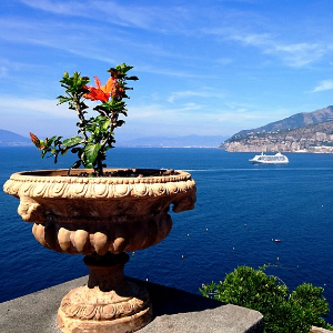 Sorrento view Naples, Pompeii and Amalfi coast