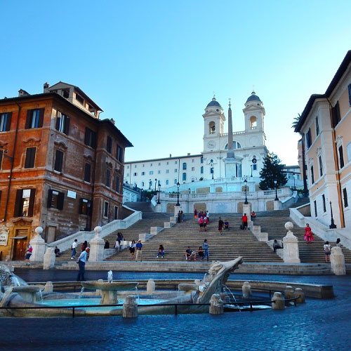 Spanish steps and fountain