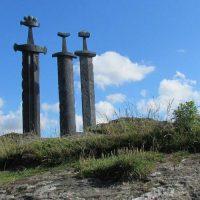 Stavanger three swords in stone