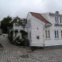 Street Old Center Stavanger Tradition Wooden Houses