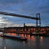 Suspension bridge Bilbao