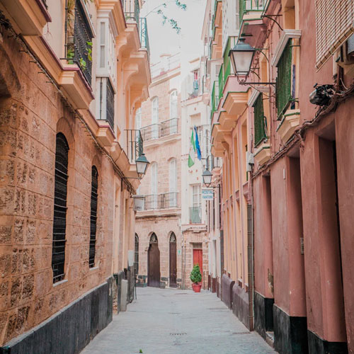 The streets of Cadiz