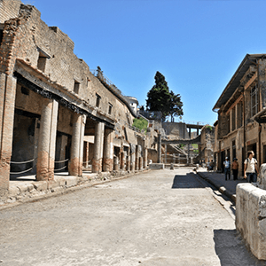 The streets of Herculaneum