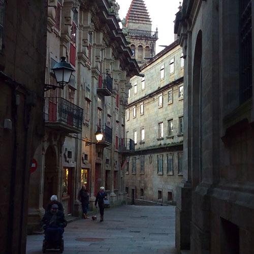 The streets of Santiago de Compostela
